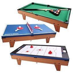"3 in 1 Multi Functional 36"" Air Hockey Ping Pong Billiard Ga"