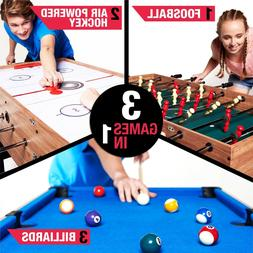 "MD Sports 48"" 3-In-1 Multi Game Combo Table Foosball Pool Ai"