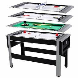 """Lancaster 54"""" 4 in 1 Pool Bowling Hockey Table Tennis Combo"""