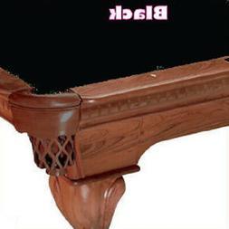 10' Simonis 760 Black Billiard Pool Table Cloth Felt