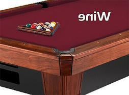 8' Oversized Simonis 860 Wine Billiard Pool Table Cloth Felt