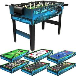 Sunnydaze 10 Combination Multi Game Table with Billiards, Pu
