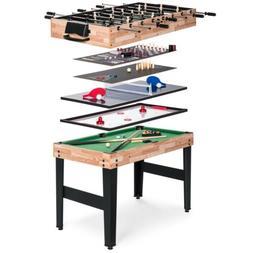 10-in 1 Game Table With Foosball, Pool, Shuffleboard, Ping P