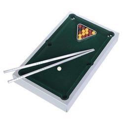 "10"" Mini Table Top Pool Game Billiard Set Cues Balls Gift"