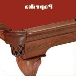 Proline 10' Paprika Classic 303 Billiard / Pool Table Felt C