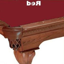 Proline 10' Red Classic 303 Teflon Billiard / Pool Table Fel