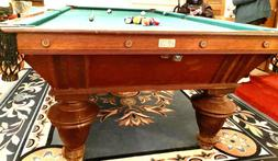 1898 Brunswick 9' Narragansett Antique Pool Table