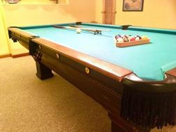 1912 Antique Brunswick Balke Collender Oak Pool Table - Vint