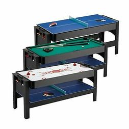 Fat Cat 3-in-1 6' Flip Multi Game Combo Table, Plays Pool,