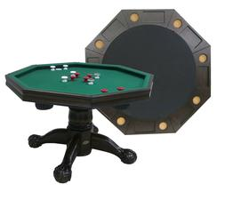 "3 in 1 BUMPER POOL, POKER & DINING TABLE 48"" OCTAGON COMBO G"