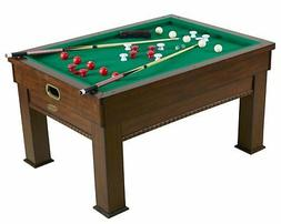 3 in 1 COMBINATION TABLE ~ SLATE BUMPER POOL, CARD/POKER GAM