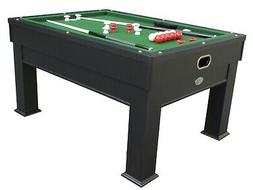 3 in 1 COMBO SLATE BUMPER POOL TABLE +CARD/POKER GAME & DINE