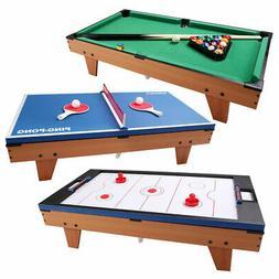 3 In 1 Multi Table Game Air Hockey Tennis Billiard Pool Tabl