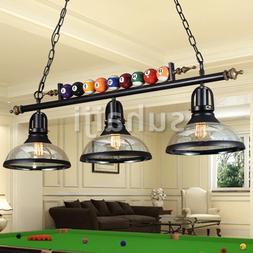 3 Light Metal Ball Design Pool Table Light Billiard Pendant