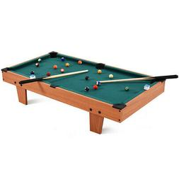 "36"" Mini Table Top Pool Table Game Billiard Set Cues Balls"