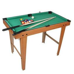 "36"" Mini Table Top Pool Table Game Billiard Set Cues Balls G"