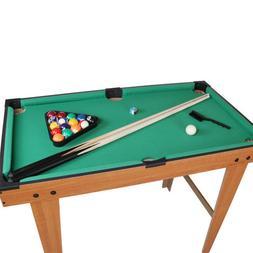 "36"" Mini Tabletop Pool Table Game Billiard Board with Triang"
