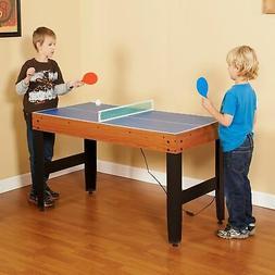 Hathaway 4-Game Multi Table Air Hockey Tennis Basketball Dry