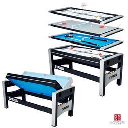 4-in-1 Swivel Combo Game Table Hockey Billiards Table Tennis