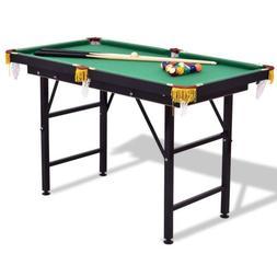 "47"" Child Billiard Game Pool Table Full Set w/ 2 Cue Triangl"