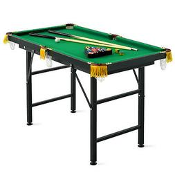 "47"" Pool Table Billiard Table Toys Game Set w 2 Cue Triangle"