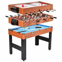 "48"" 3-In-1 Multi Combo Game Table Foosball Soccer Billiards"
