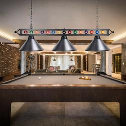 "Wellmet 59"" Billiard Lights with Billiards Ball 3-Light DIY"