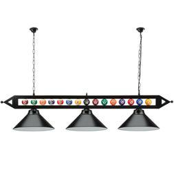 "59"" Billiard Pool Table Lighting Fixture with 3 Metal Lamp"