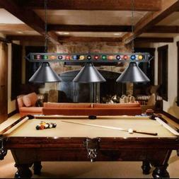 "59"" Modern Billiard Pool Table Light Black Metal With Ball G"