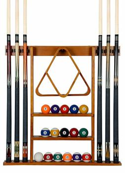 Iszy Billiards Cue Rack Only - 6 Pool Cue - Billiard Stick W