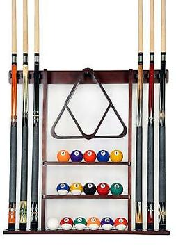 Cue Rack Only - 6 Pool Cue - Billiard Stick Wall Rack Made o