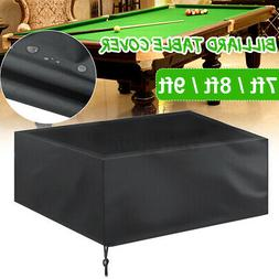 7'8'9' Pool Table Cover Heavy Duty Fitted Billiard Cover Lea