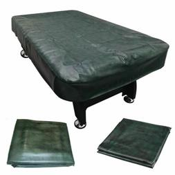 7' Foot Green Pool Table Billiard Cover Heavy Duty Fitted Le