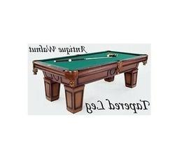 """8 foot POOL TABLE """"THE DELRAY"""" WITH TAPERED LEG by BERNER BI"""