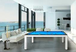 7' LUXURY CONVERTIBLE DINING POOL TABLE Billiard Dining Desk