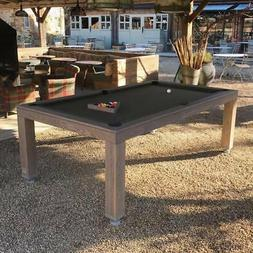 7' OUTDOOR LUXURY CONVERTIBLE DINING POOL TABLE VISION BILLI