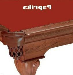 Proline 7' Paprika Classic 303 Billiard / Pool Table Felt Cl