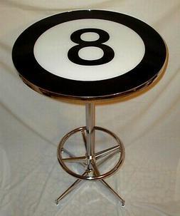 8 Ball Logo Pub Table Billiards Pool Room