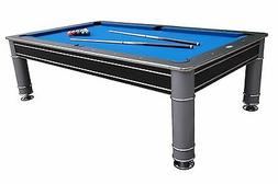 """8 FOOT POOL TABLE in BLACK & SILVER """"THE COSMOPOLITAN"""" by BE"""