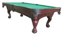 8 foot POOL TABLE with BALL & CLAW LEG in CHERRY by BERNER B