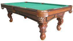 8 foot SLATE POOL TABLE with QUEEN ANN LEG by BERNER BILLIAR