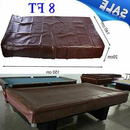 8 ft Foot Heavy Duty Fitted Leatherette Billiard Pool Table