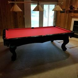 8 ft Greenleaf Slate Billiards Pool Table Wall Mount Rack Cu