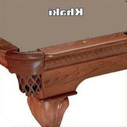 Proline 8' Khaki Classic 303 Teflon Billiard / Pool Table Fe
