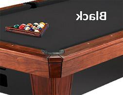8' Oversized Simonis 860 Black Billiard Pool Table Cloth Fel