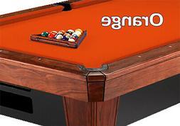 8' Oversized Simonis 860 Orange Billiard Pool Table Cloth Fe
