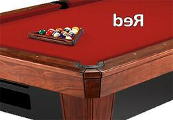 8' Oversized Simonis 860 Red Billiard Pool Table Cloth Felt