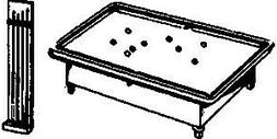 Evergreen Hill 8048 O  Pool Table and Que Rack
