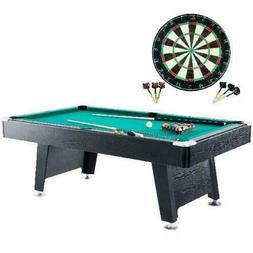 "Barrington 84"" Arcade Pool Table with Bonus Dartboard Set, G"