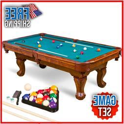 87-Inch Brighton Billiard Pool Table Set Full Accessories Fa